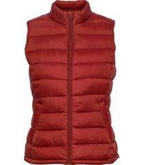 viminsk short quilted waistcoat/pb vests padded vests röd vila