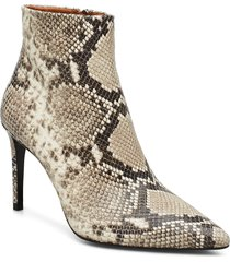 booties 3360 shoes boots ankle boots ankle boot - heel beige billi bi