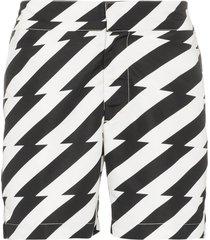 frescobol carioca pepe stripe swim shorts - black