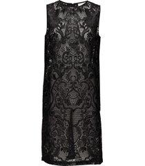turlington lace korte jurk zwart ganni