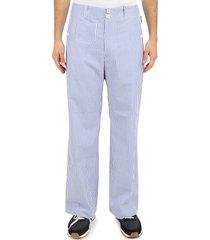junya watanabe bi-coloured trousers