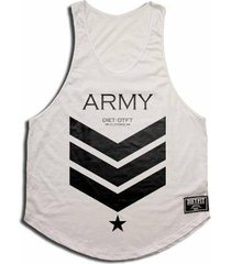 camiseta regata cavada army