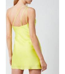 de la vali women's lithium dress - yellow solid - uk 12