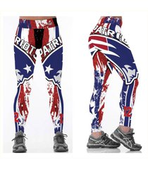 nfl new england patriots leggings - #12 - red, white, blue - women's fan gear