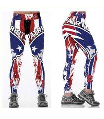 nfl new england patriots leggings - #12 - red, white, blue - women's fan gear