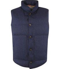 brunello cucinelli high-neck padded vest