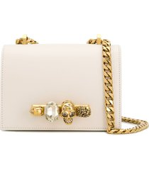 alexander mcqueen knuckle duster shoulder bag - white