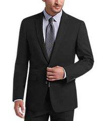 vince camuto black slim fit suit