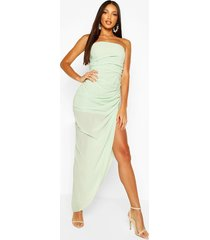 chiffon draped corset maxi dress, sage
