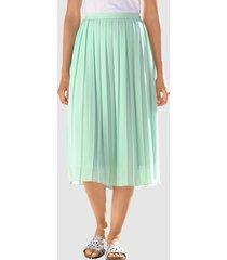 plisserad kjol laura kent lindblomsgrön