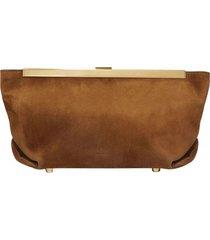 aimee leather clutch