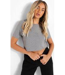 kort t-shirt, grey marl
