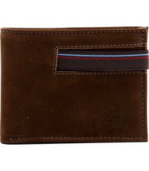 carteira masculina marrom zariff em couro