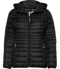 jackets outdoor woven gevoerde lange jas zwart esprit casual