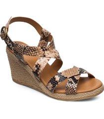 espadrilles 4320 sandalette med klack espadrilles beige billi bi