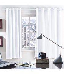 cortina 2 metros blackout branco corta luz com 1 peças - valle enxovais