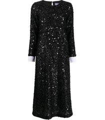 in the mood for love sequin shirt dress - black