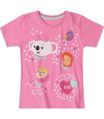 camiseta mundo ripilica - 11400080i - rosa - menina - dafiti