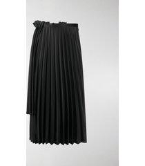 comme des garçons noir kei ninomiya double-layered pleated skirt