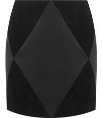 faux leather diamond skirt