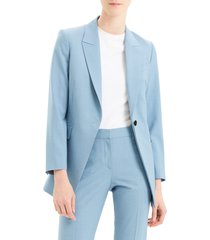 women's theory etiennette b good wool suit jacket, size 10 - blue