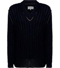maglione maglia uomo collo a v