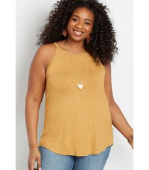 maurices plus size womens 24/7 gold high neck tank top