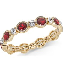 charter club stone & crystal stretch bracelet, created for macy's