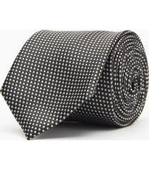 krawat mikrowzór czarny 100