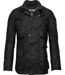 b.intl gauge wax jacket tunn jacka svart barbour