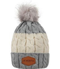 gorro de lana light gray nerfis