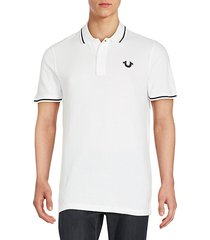 signature print polo shirt