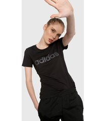 camiseta negro-blanco adidas performance desing 2 move