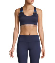 splendid women's striped sports bra - peacoat - size s