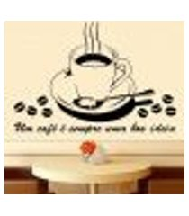 adesivo de parede café uma boa ideia - m 68x48cm