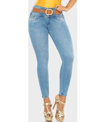 jeans push up azul claro cheviotto