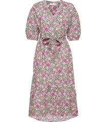 linda knälång klänning rosa mango