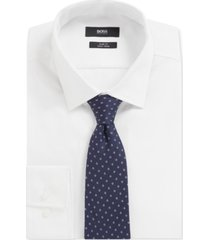 boss men's italian-made silk micro-pattern tie