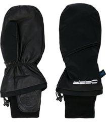 off-white offf mitten gloves - black