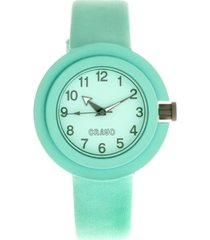 crayo unisex equinox mint leatherette strap watch 40mm