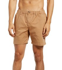 men's chubbies the staples stretch twill shorts, size large - beige