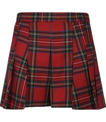 red valentino washed tartan shorts