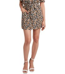 bcbgeneration floral-print tie-waist mini skirt