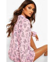 jersey sebastian disney pyjama set met knopen, roze