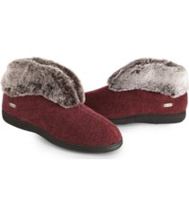acorn women's faux chinchilla bootie slippers women's shoes