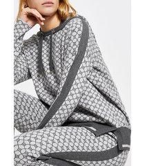 river island womens grey ri monogram hoodie