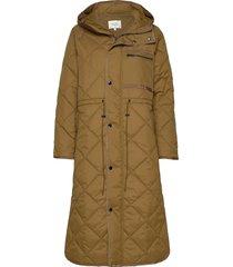 prudence coat doorgestikte jas bruin second female
