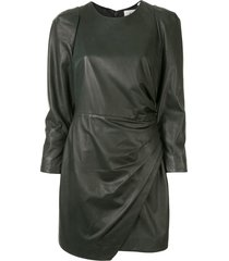 a.l.c. lana draped dress - green