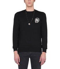 alexander mcqueen sweater with biker graphics