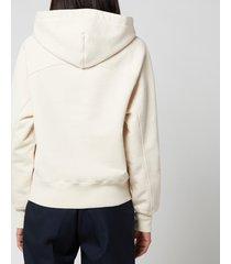 ami women's de coeur hoodie - off white - l
